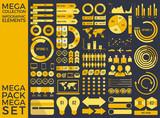 Mega Collection and Mega Set Infographic Elements Vector Design Eps 10