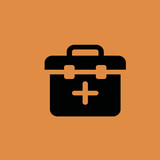 Medicine chest icon. flat design