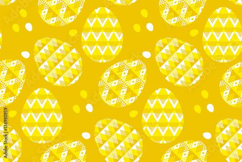 Materiał do szycia tribal geometry concept easter egg decoration seamless pattern.