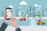 Location Map Application and Self-Driving Urban Car
