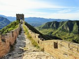 Chinesische Mauer bei Sonnenschein