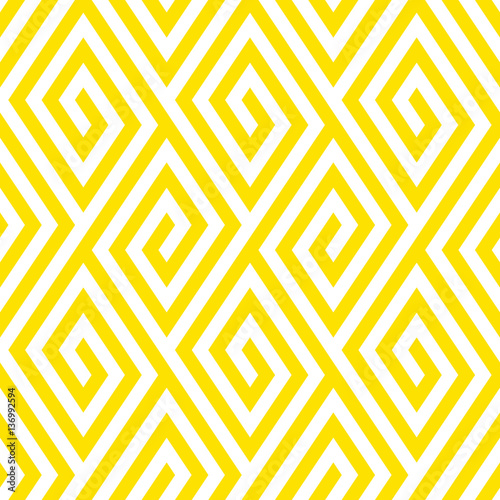 Pattern with stripe, chevron, geometric shapes - 136992594