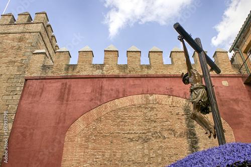 Jesús muerto en la cruz, semana santa de Sevilla, hermandad de los Estudiantes