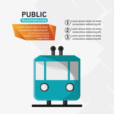 public transport railway cable vector illustration eps 10