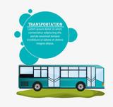 Fototapety modern bus transport infographic vector illustration eps 10
