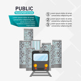 train passenger public transport urban infographic vector illustration eps 10