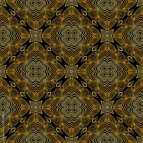 Fototapeta Linear pattern in art deco style