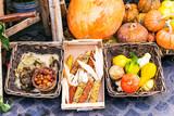 Autumn harvest. Market still life from vegetables
