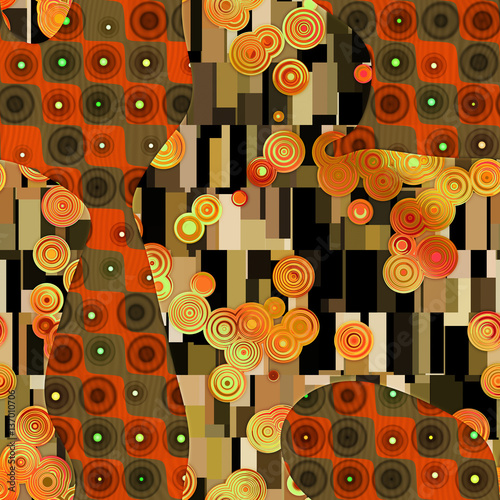 Abstract pattern in Gustav Klimt style  © kseniyaomega