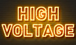 High voltage neon sign