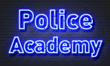 Police academy neon sign