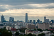 Cityscape of Beijing, view from Jingshan park.