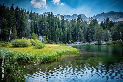 emerald lake in the mammoth lakes basin appear green buy photos