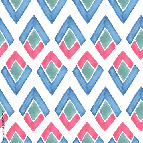 Vector Seamless Watercolor  Pattern - 137035532