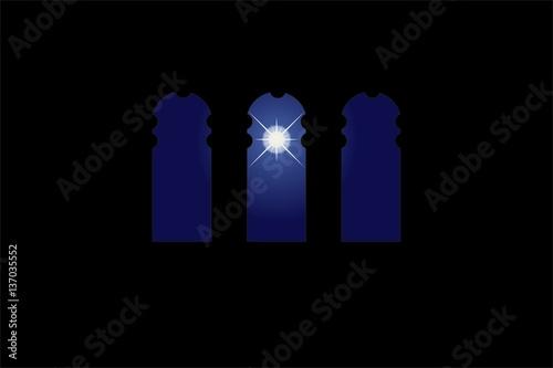 Three windows in the world. One big star - 137035552