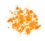 top view of turmeric powder isolated on white background - 137042555