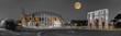 Quadro Rom Colosseum und  Konstantinsbogen sw col Panorama