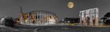 Rom Colosseum und  Konstantinsbogen sw col Panorama - 137051335