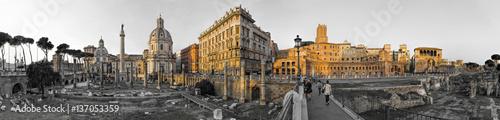Panorama Imperial Forum Rome sw Col 180 stopni