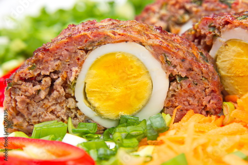 Poster Meatloaf with egg.