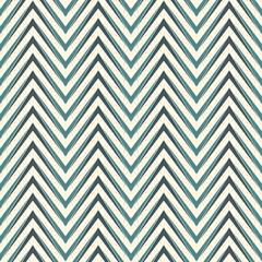 Herringbone abstract background. Blue colors seamless pattern with chevron diagonal lines.