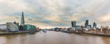 Fototapeta Panoramic view of London from Tower Bridge