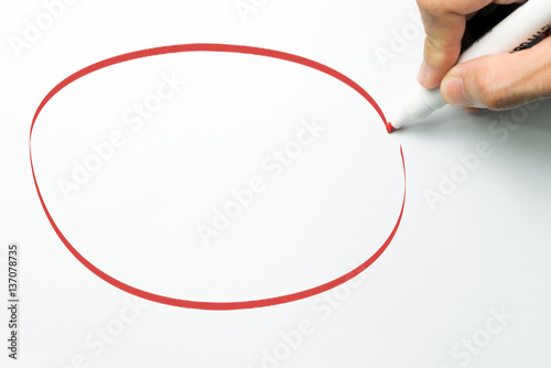 Poster Big red circle