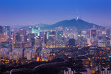 Seoul City Skyline and N Seoul Tower in Seoul, south Korea.