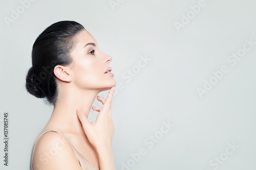 Perfect Woman Spa Model with Healthy Skin. Spa Beauty, Facial Tr