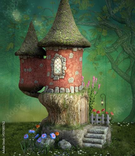 Fantasy fairytale little house - 137085762