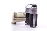 dollars and old camera