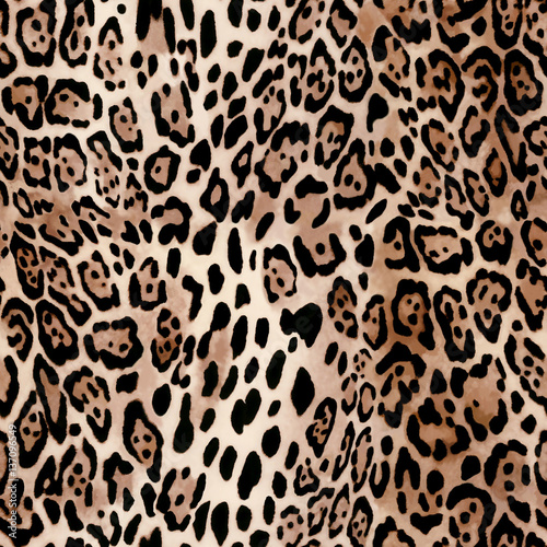 Fototapeta Natural Leo print - animal seamless background