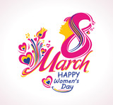 8 March. Beautiful symbol of Women