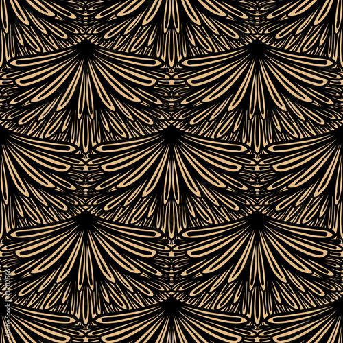 Fototapeta Art deco vector floral pattern