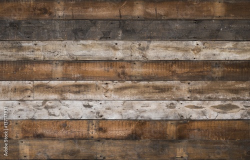 Foto Murales reclaimed old wooden background