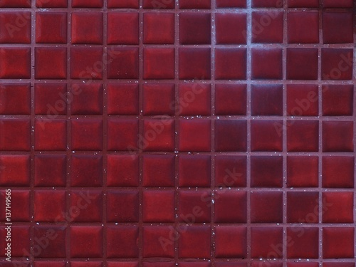 Fotobehang Bordeaux 灯台の赤いタイル