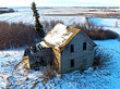 Prairie Ghost Town House in Winter