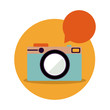 camera bubble icon stock image, vector illustration design