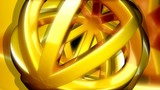golden ball shape spinning randomly