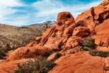 Scenic Landscape of Red Rocks at Red Rock Canyon, southern Nevada, USA