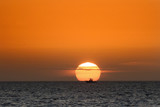 sailing boat Fort Myers beach at sunset Gulf Coast Florida USA