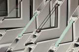 PVC window profiles on display