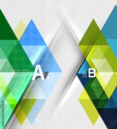 Deurstickers Geometrische dieren Abstract geometric concept