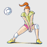 Volley athlete