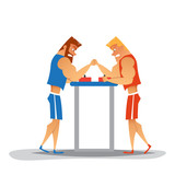 Arm wrestling competition.
