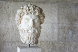 Statue head from Museum of the Ancient Agora inside Stoa of Attalos, Athens, Greece. - 137194133