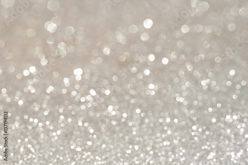 Billede Silver glittering christmas lights