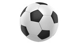 soccer ball loop rotate on white background