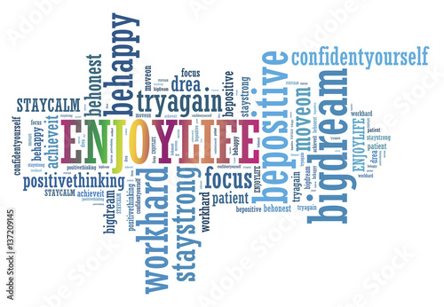 Poster ENJOY LIFE and other positive words