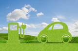 eco concept, green car with alternative propulsion, electric
